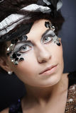 Woman with creative make up Royalty Free Stock Photo