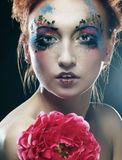 Woman with creative make up Royalty Free Stock Photos