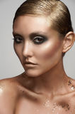 Woman with creative makeup Royalty Free Stock Photography