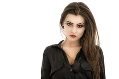 Woman with creative makeup. Beauty. Halloween Stock Photo