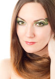 woman with creative makeup, bodyart Royalty Free Stock Photo