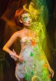 Woman with creative makeup Stock Photo