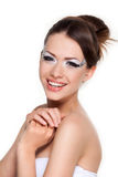 Woman with creativity make-up Royalty Free Stock Photo