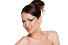 Woman with creativity make-up Royalty Free Stock Image