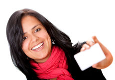 Woman - Credit card Stock Photo