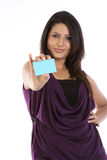 Woman with credit card Stock Photo