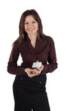 Woman with credit card Stock Photography