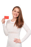 Woman with credit card Royalty Free Stock Image