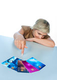 Woman with credit cards Stock Photography