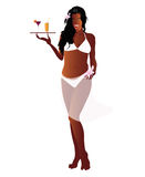 Woman creole with fruit beverage Stock Image