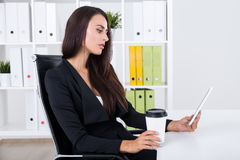Woman with critical thinking skills Royalty Free Stock Photos
