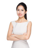 Woman cross arm Royalty Free Stock Photos