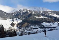 Nordic Skiing, Nauders, Tirol, Austria Royalty Free Stock Photo