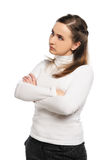 Woman crossed arms Royalty Free Stock Photography
