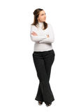Woman crossed arms Stock Photo