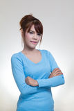 Woman crossed arms Royalty Free Stock Photo