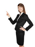 Woman with crossed arms smiling Royalty Free Stock Photos