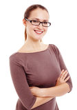 Woman with crossed arms Royalty Free Stock Photo