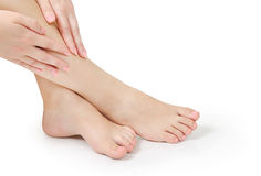 Woman crossed legs Stock Photos