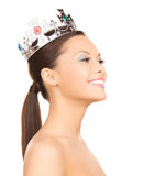 Woman with the crown royalty free stock images