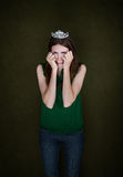 Woman With Crown Cries Royalty Free Stock Images