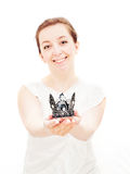 Woman with crown on head Stock Photography