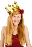 Woman in crown Stock Photos