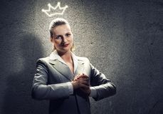 Woman in crown Royalty Free Stock Photos