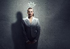 Woman in crown Royalty Free Stock Photo
