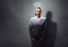 Woman in crown Royalty Free Stock Photography