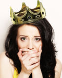 Woman in crown Stock Image