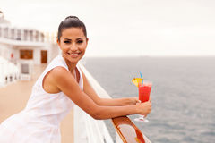 Woman cruise cocktail Stock Image