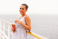 Woman cruise holiday Royalty Free Stock Photo