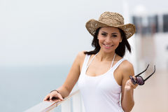 Woman cruise Royalty Free Stock Images
