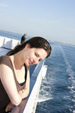 Woman on cruise ship Royalty Free Stock Image