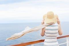 Woman at cruise ship Royalty Free Stock Image
