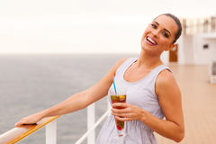 Woman cruise ship Stock Photography