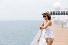 Woman cruise ship Stock Images
