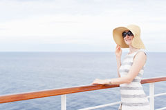 Woman at cruise ship Stock Image