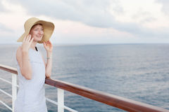 Woman cruising Royalty Free Stock Photo