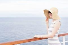 Woman cruising Stock Photography
