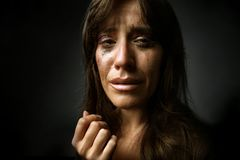 A woman cry Royalty Free Stock Photos