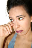 Woman cry Stock Images