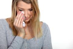 Woman crying Stock Photos