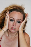 Woman crying. Close-up of a distraught young woman crying Royalty Free Stock Photo