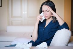 Free Woman Crying After A Relationship Breakup Royalty Free Stock Image - 133887176