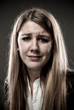 Woman crying Stock Image