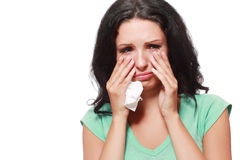 Woman crying Royalty Free Stock Photo