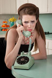 Woman Crys On The Phone Royalty Free Stock Images