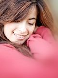 Woman cuddling Stock Photo
